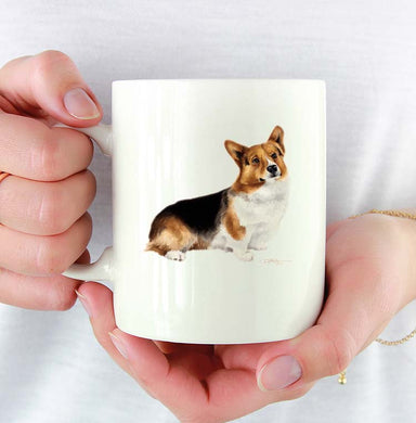 A Welsh Corgi 0 print based on a David J Rogers original watercolor