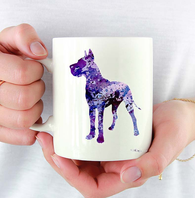 A Great Dane 0 print based on a David J Rogers original watercolor