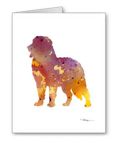 A Bernese Mountain Dog 0 print based on a David J Rogers original watercolor