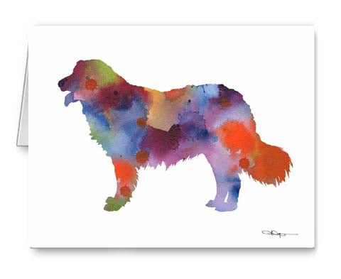 A Kuvasz 0 print based on a David J Rogers original watercolor