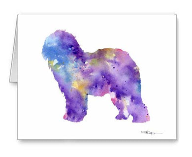 A Old English Sheepdog 0 print based on a David J Rogers original watercolor