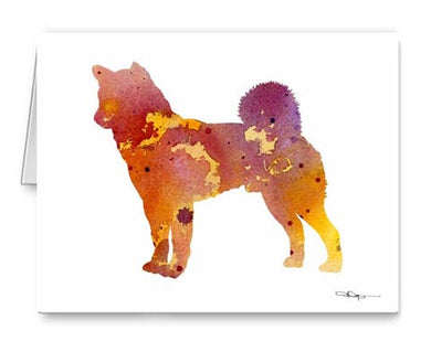 A Akita 0 print based on a David J Rogers original watercolor
