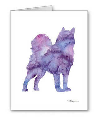 A Alaskan Malamute 0 print based on a David J Rogers original watercolor