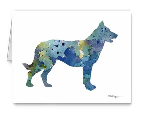 A Beauceron 0 print based on a David J Rogers original watercolor