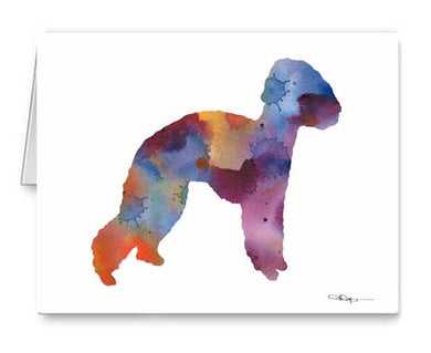 A Bedlington Terrier 0 print based on a David J Rogers original watercolor