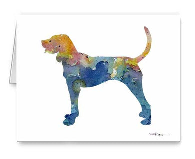 A Bluetick Coonhound 0 print based on a David J Rogers original watercolor