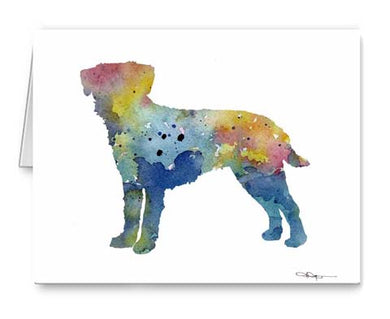 A Border Terrier 0 print based on a David J Rogers original watercolor