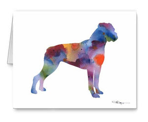 A Boxer 0 print based on a David J Rogers original watercolor