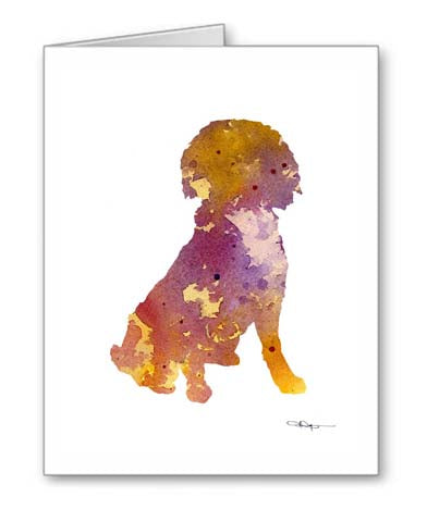 A Boykin Spaniel 0 print based on a David J Rogers original watercolor