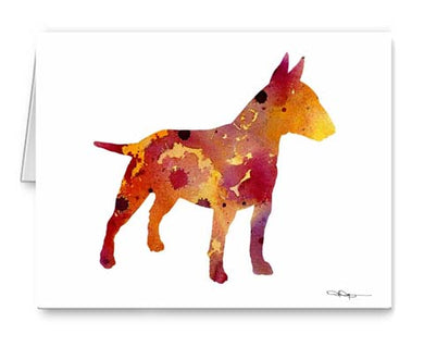 A Bull Terrier 0 print based on a David J Rogers original watercolor