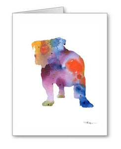 A Bulldog 0 print based on a David J Rogers original watercolor