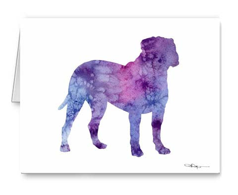A Bullmastiff 0 print based on a David J Rogers original watercolor