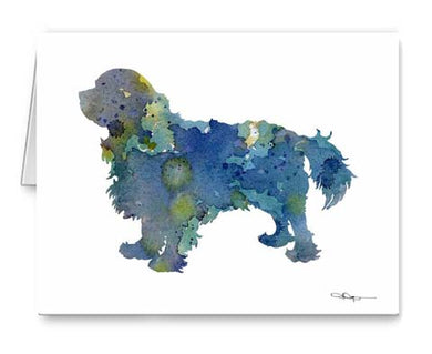 A Cavalier King Charles Spaniel 0 print based on a David J Rogers original watercolor