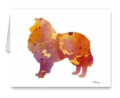 A Collie 0 print based on a David J Rogers original watercolor