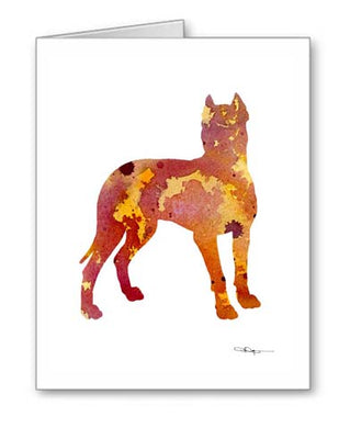 A Dogo Argentino 0 print based on a David J Rogers original watercolor