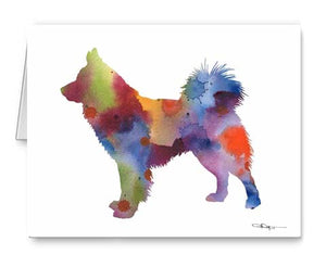 A Icelandic Sheepdog 0 print based on a David J Rogers original watercolor