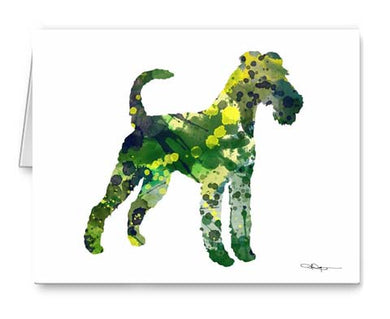 A Irish Terrier 0 print based on a David J Rogers original watercolor