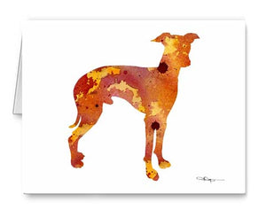 A Italian Greyhound 0 print based on a David J Rogers original watercolor