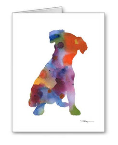 A Jack Russell Terrier 0 print based on a David J Rogers original watercolor