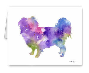 A Japanese Chin 0 print based on a David J Rogers original watercolor