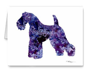 A Kerry Blue Terrier 0 print based on a David J Rogers original watercolor