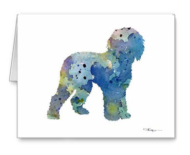 A Labradoodle 0 print based on a David J Rogers original watercolor