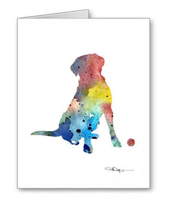 A Labrador Retriever 0 print based on a David J Rogers original watercolor