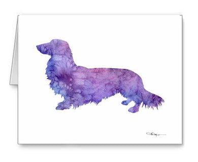 A Long Haired Dachshund 0 print based on a David J Rogers original watercolor