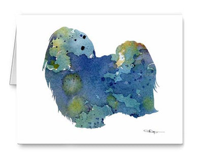 A Maltese 0 print based on a David J Rogers original watercolor
