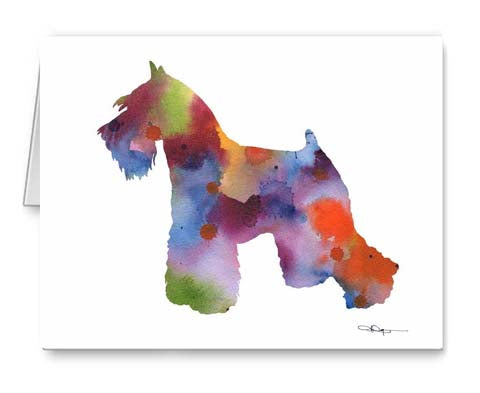 A Miniature Schnauzer 0 print based on a David J Rogers original watercolor