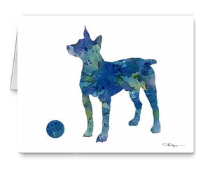 A Rat Terrier 0 print based on a David J Rogers original watercolor