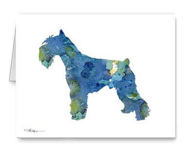 A Schnauzer 0 print based on a David J Rogers original watercolor