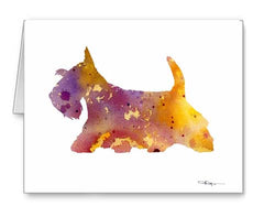 A Scottish Terrier 0 print based on a David J Rogers original watercolor