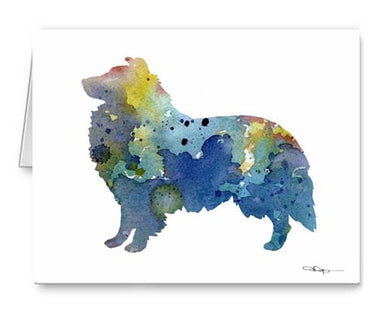 A Sheltie 0 print based on a David J Rogers original watercolor