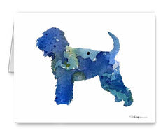 A Soft Coated Wheaten Terrier 0 print based on a David J Rogers original watercolor
