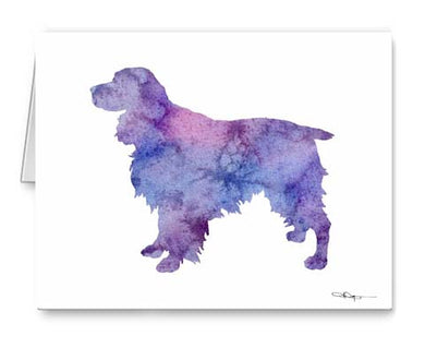 A Springer Spaniel 0 print based on a David J Rogers original watercolor