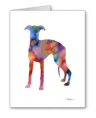 A Whippet 0 print based on a David J Rogers original watercolor