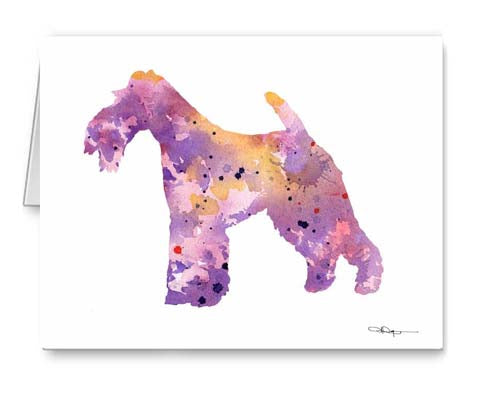 A Wire Fox Terrier 0 print based on a David J Rogers original watercolor