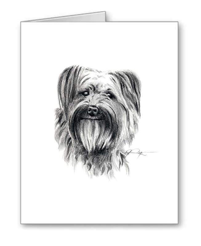 A Pyrenean Shepherd portrait print based on a David J Rogers original watercolor