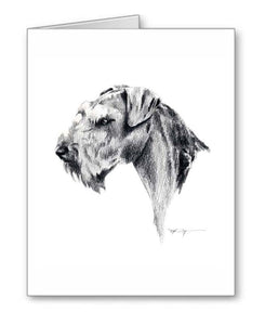 A Airdale Terrier portrait print based on a David J Rogers original watercolor