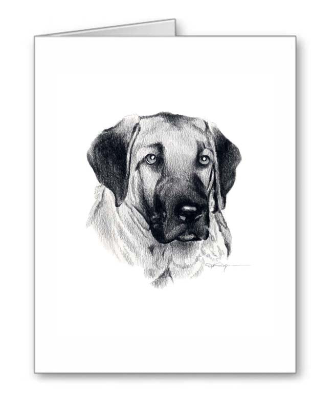 A Anatolian Shepherd portrait print based on a David J Rogers original watercolor