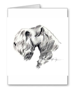 A Cesky Terrier portrait print based on a David J Rogers original watercolor