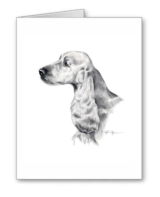 A English Cocker Spaniel portrait print based on a David J Rogers original watercolor
