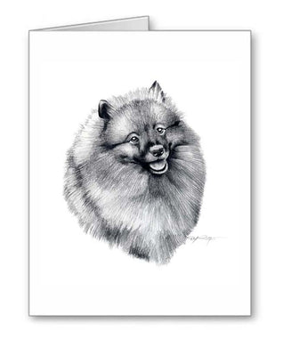 A Keeshond portrait print based on a David J Rogers original watercolor