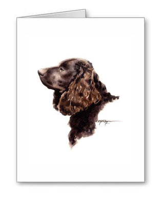 A American Water Spaniel portrait print based on a David J Rogers original watercolor