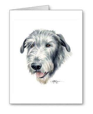 A Irish Wolfhound portrait print based on a David J Rogers original watercolor