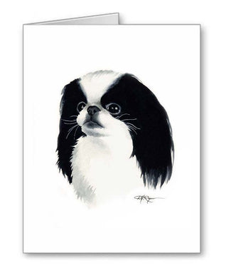 A Japanese Chin portrait print based on a David J Rogers original watercolor