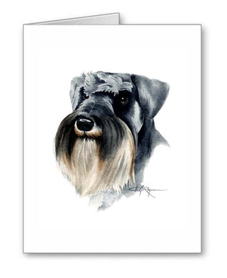 A Schnauzer portrait print based on a David J Rogers original watercolor