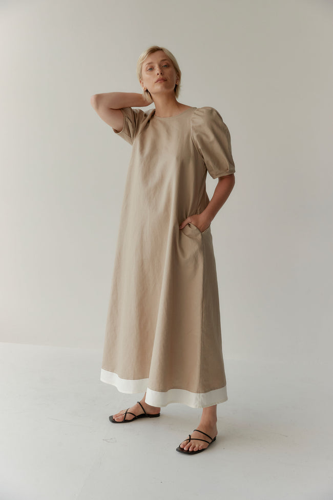 Bloom Dress Taupe