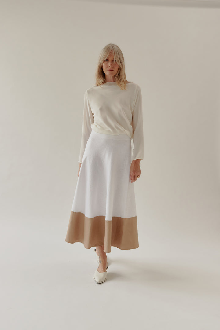 Gwyn Skirt White